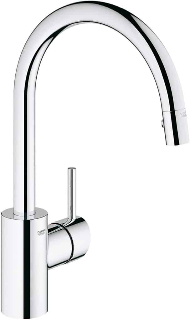 Grohe Concetto Single-Handle Pull-Down High Arc Kitchen Faucet, Starlight Chrome